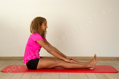Stretching hamstring muscles